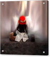 Lonely Girl Acrylic Print