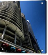 Looking Up At Chicago's Marina Towers Acrylic Print