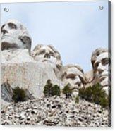 Looking Up At Mount Rushmore National Monument South Dakota Acrylic Print