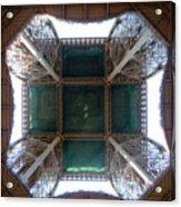Looking Up Eiffel Tower Acrylic Print
