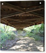 Looking Up Nevins Bridge Indiana Acrylic Print