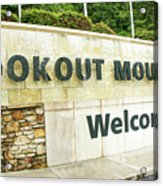 Lookout Mountain Acrylic Print