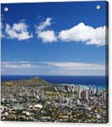 Lookout View Of Honolulu Acrylic Print