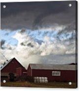 Looming Storm In Sumas Washington Acrylic Print