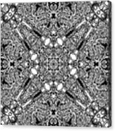 Loops Black And White No. 1 Acrylic Print