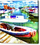 Loose Cannon Water Taxi 1 Acrylic Print by Lanjee Chee