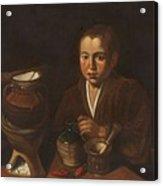 Lopez Caro, Francisco 1598, 1661 Kitchen Boy Ca. 1620 Acrylic Print