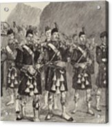 Lord Archibald Campbell And His Pipers Marching Through The Pass Of Glencoe Acrylic Print