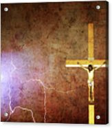 Lord Have Mercy - Crucifixion Of Jesus -2011 Acrylic Print