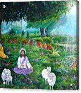 Lord Jesus And Lord Krishna Acrylic Print