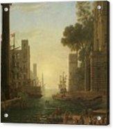 Lorena, Claudio De Chamagne, 1600 - Roma, 1682 The Embarkation Of Saint Paula Ca. 1639. Acrylic Print