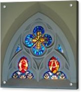Loretto Chapel Stained Glass Acrylic Print