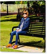 Lorna On A Bench Acrylic Print
