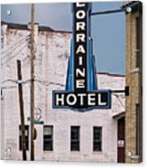 Lorraine Hotel Sign Acrylic Print