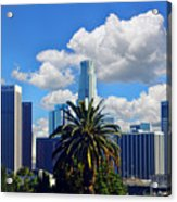 Los Angeles And Palm Trees Acrylic Print