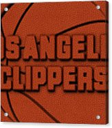 Los Angeles Clippers Leather Art Acrylic Print