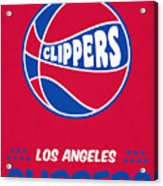 Los Angeles Clippers Vintage Basketball Art Acrylic Print