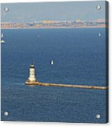 Los Angeles Harbor Light - Angel's Gate - California Acrylic Print