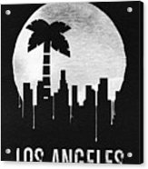 Los Angeles Landmark Black Acrylic Print