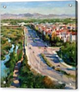 Los Angeles - Playa Vista From South Bluff Trail Road Acrylic Print