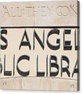 Los Angeles Public Library 0588 Acrylic Print