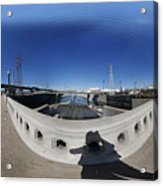 Los Angeles River Washington Avenue Bridge North Acrylic Print