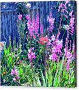 Los Osos Flower Garden Acrylic Print