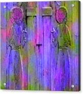 Los Santos Cuates - The Twin Saints Acrylic Print by Kurt Van Wagner