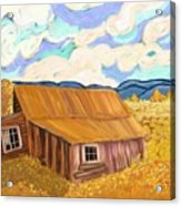 Lost Cabin In The Mountains Acrylic Print by Sydne Archambault