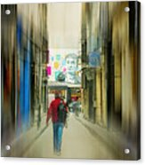 Lost In The Maze Of The City Acrylic Print