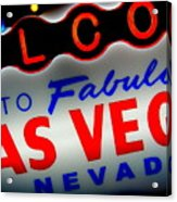 Lost In Vegas Acrylic Print