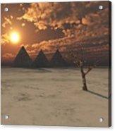 Lost Pyramids Acrylic Print