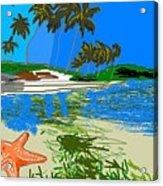 Lost Starfish On A Beach Acrylic Print