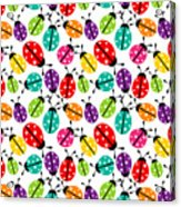 Lots Of Crayon Colored Ladybugs Acrylic Print