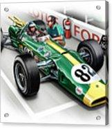 Lotus 38 Indy 500 Winner 1965 Acrylic Print by David Kyte