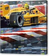 Lotus 99t 1987 Ayrton Senna Acrylic Print