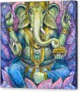 Lotus Ganesha Acrylic Print by Sue Halstenberg