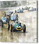 1961 Germany Gp  #7 Lotus Climax Stirling Moss Winner  Acrylic Print