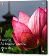 Lotus - Haiku Acrylic Print