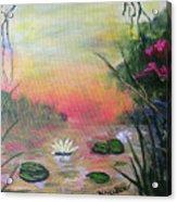 Lotus Pond Fantasy Acrylic Print