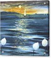 Lotuses Acrylic Print