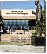 Louis Armstrong Bronze - Mahalla Jackson Theater - New Orleans Acrylic Print