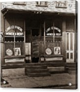 Louis Czarniecki Miners Rest 209 George Ave Parsons Pennsylvania Acrylic Print