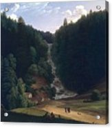 Louis Gauffier  View Of Falls At Vallombrosa Acrylic Print