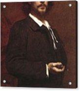 Louis Maurice Boutet De Monvel  Portrait Of Paul Mounet Acrylic Print