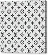 Louis Vuitton Pattern Lv 07 Grey Acrylic Print