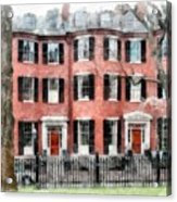 Louisburg Square Beacon Hill Boston Acrylic Print