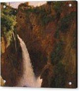 Louise-josephine Sarazin De Belmont  The Falls At Tivoli Acrylic Print