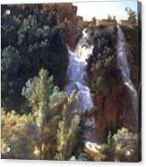 Louise-josephine Sarazin De Belmont  View Of The Falls At Tivoli Acrylic Print