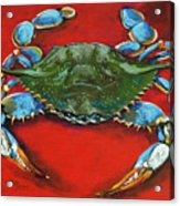 Louisiana Blue On Red Painting By Dianne Parks